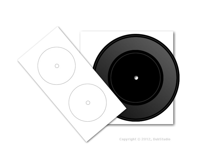 7 inch vinyl dub plate single [small hole]